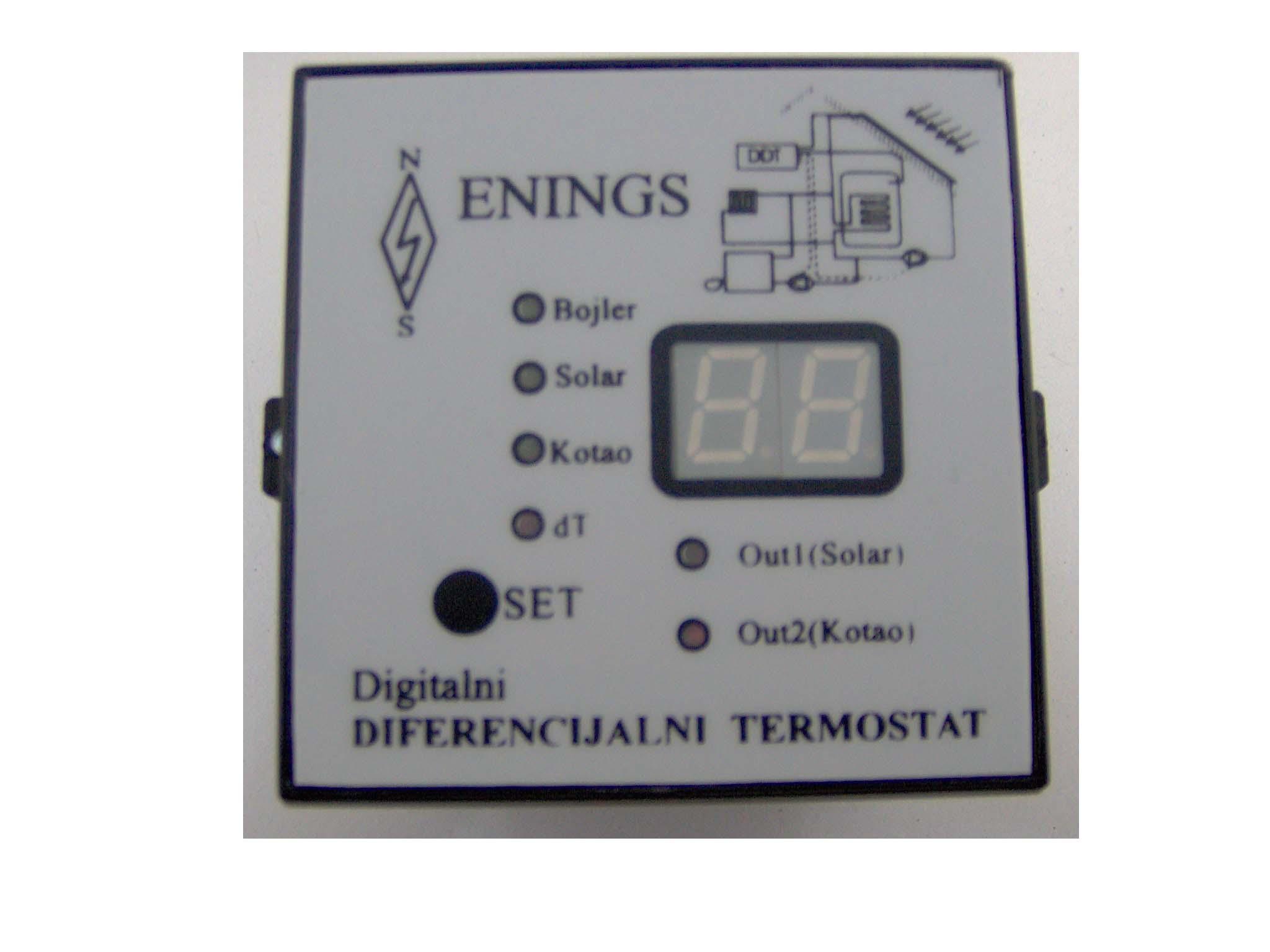 Dvostruki diferencijalni termostat (varijanta za orman) - ENINGS - Niš