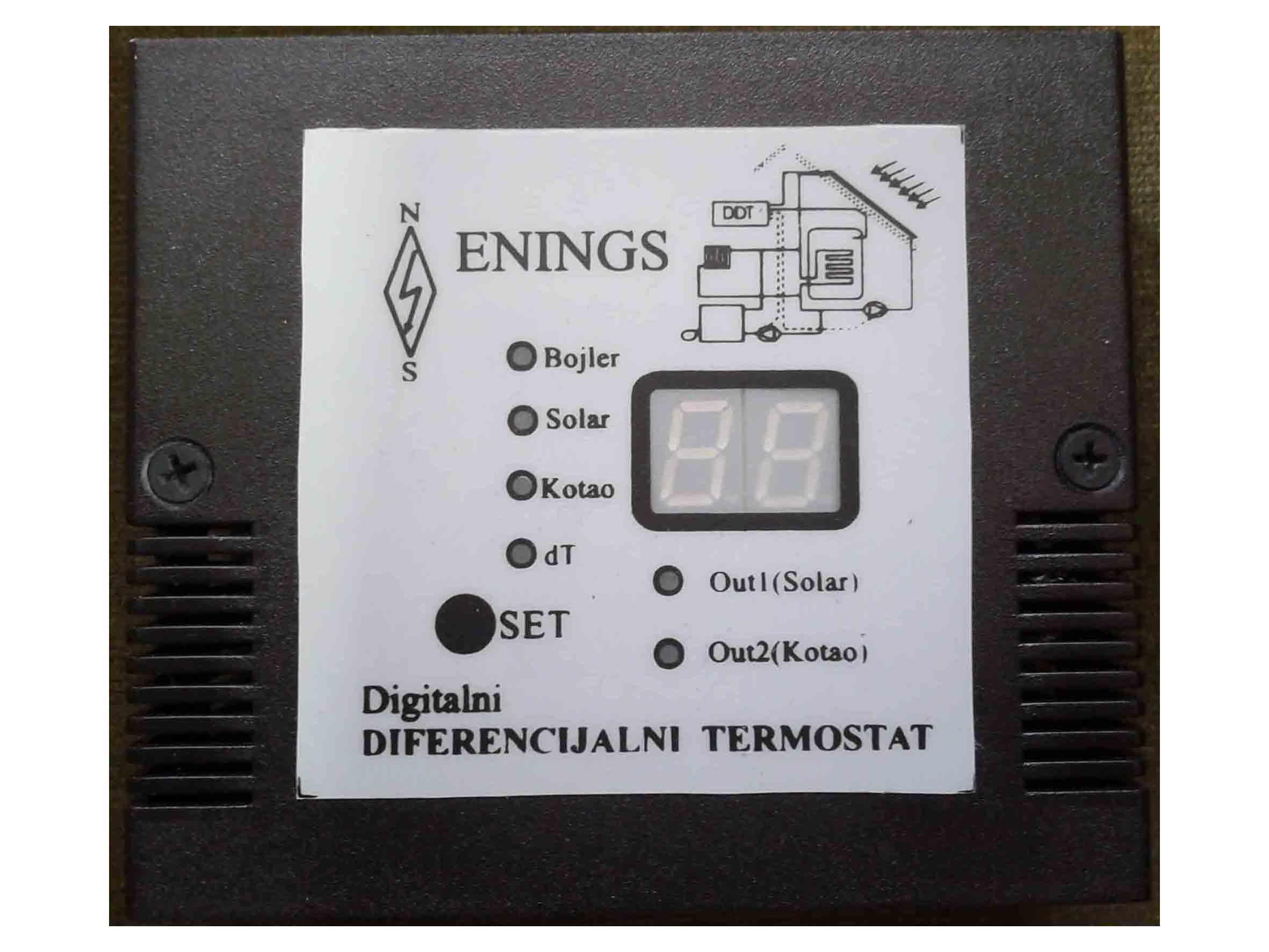 Dvostruki diferencijalni termostat (tri sonde, varijanta za zid) - ENINGS - Niš